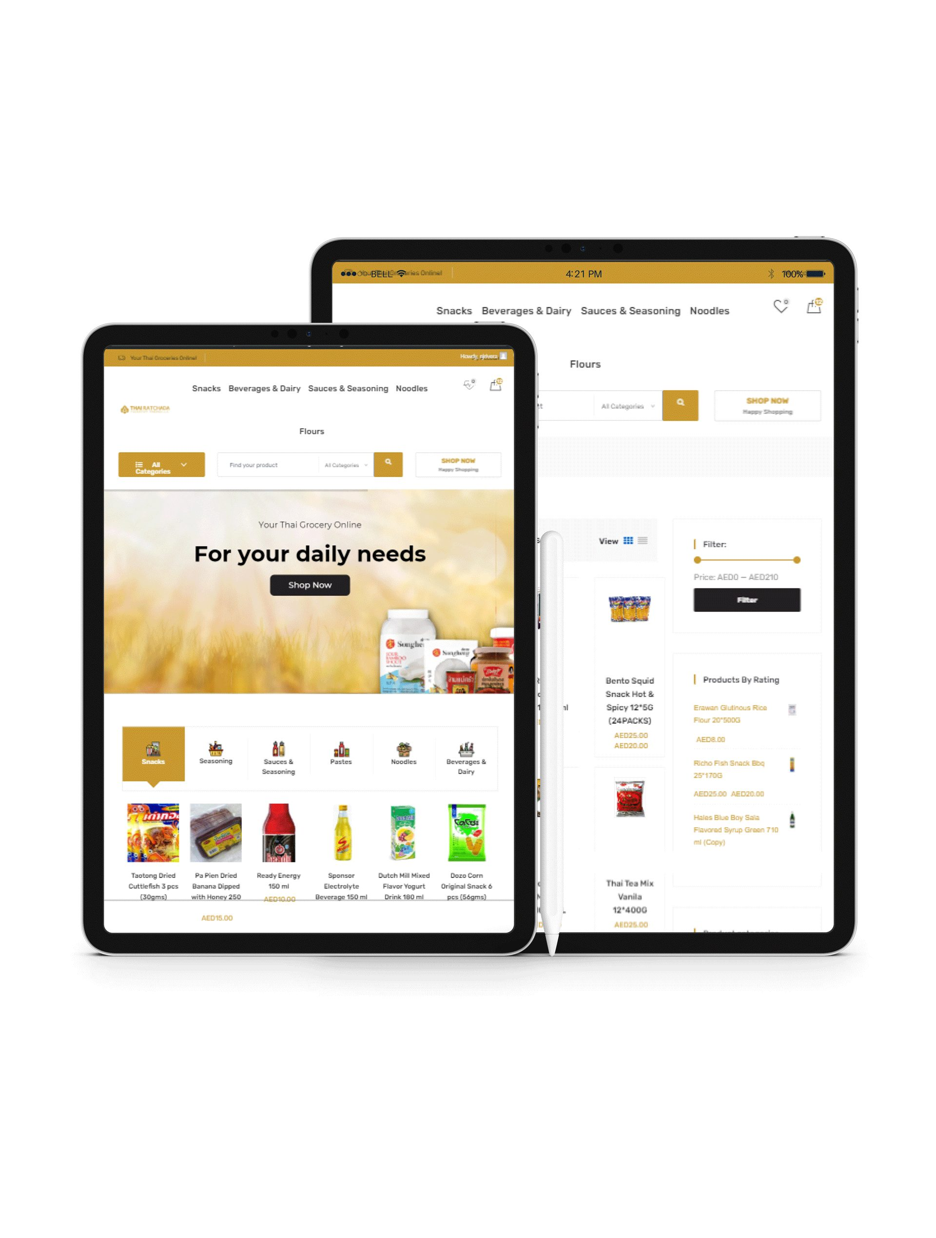 Thairatchada Ecommerce Website